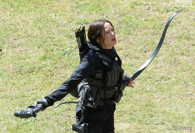 Hunger Games 3 : Jennifer Lawrence sur le tournage à Noisy le Grand le 15 mai 2013