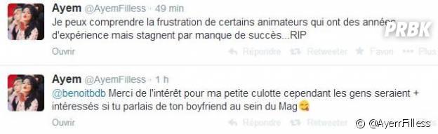 Benoît Dubois et Matthieu Delormeau clashés par Ayem Nour sur Twitter
