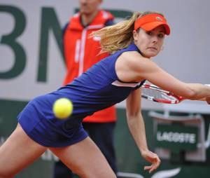 Alizée Cornet échange des balles à Roland Garros, le 28 mai 2014