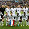 Karim Benzema prennent la pose avant le coup d'envoi de France VS Equateur, le 25 juin 2014 au Brésil