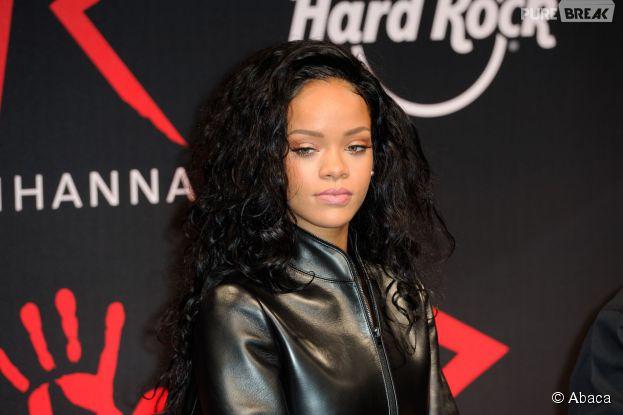 Rihanna au Hard Rock Café de Paris, le 5 juin 2014
