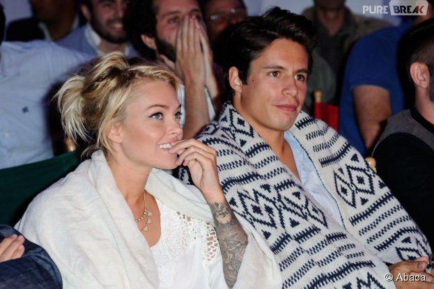 Caroline Receveur et Valentin Lucas souriants au Kia Cabana, le 25 juin 2014