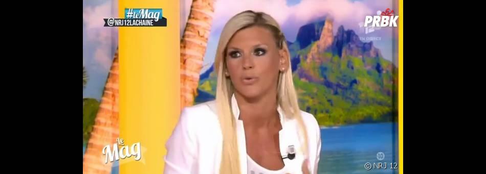 Amélie Neten sur le plateau du Mag de NRJ 12