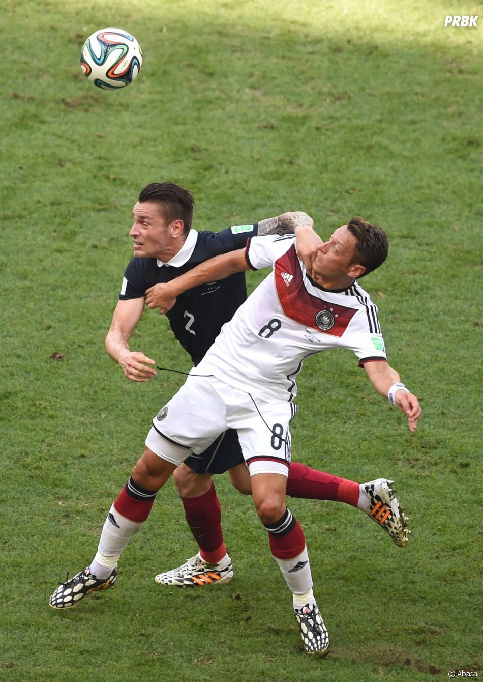 Match serré entre la France et l'Allemagne en quart de finale de la Coupe du Monde 2014, le 4 juillet 2014