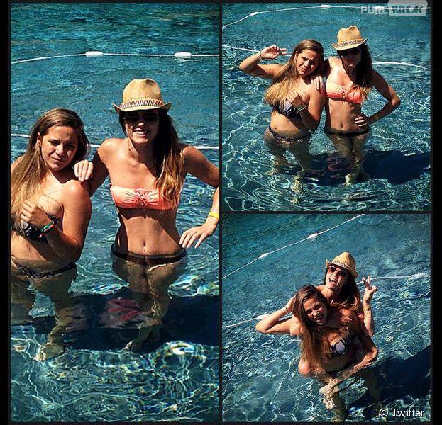 Capucine Anav (Le Mag NRJ12) en vacances avec sa petite soeur Lou