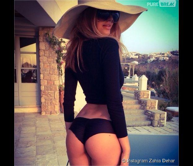 Zahia Dehar : fesses en gros plan sur Instagram