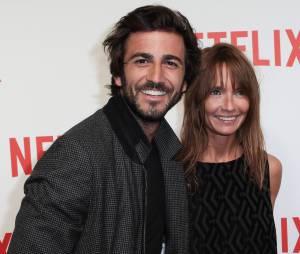 Cyril Paglino et Axelle Laffont à la soirée de lancement Netlfix, le 15 septembre 2014 à Paris