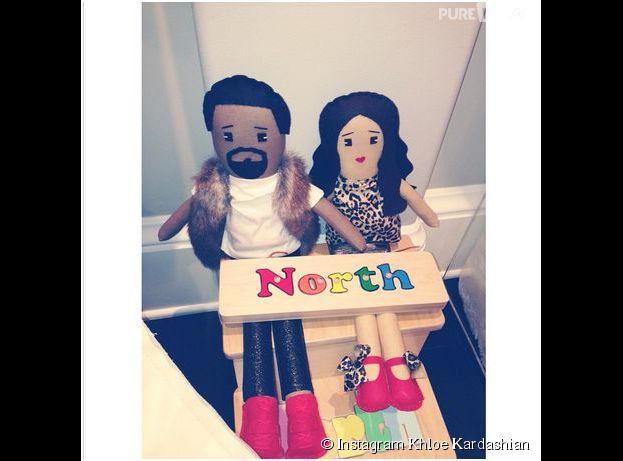 Kim Kardashian et Kanye West en poupées pour North