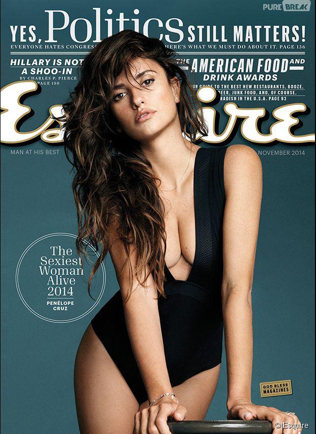 Penélope Cruz élue femme la plus sexy de 2014 par Esquire