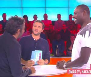Omar Sy face à face avec Eric Toledano et Olivier Nakache dans Le Grand 8, le 14 octobre 2014