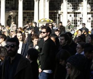 Rising Star : l'enterrement de Gaël Lopes en présence de sa famille, de ses proches et aussi de Faustine Bollaert a eu lieu le 27 octobre 2014 au cimetière du Père Lachaise à Paris