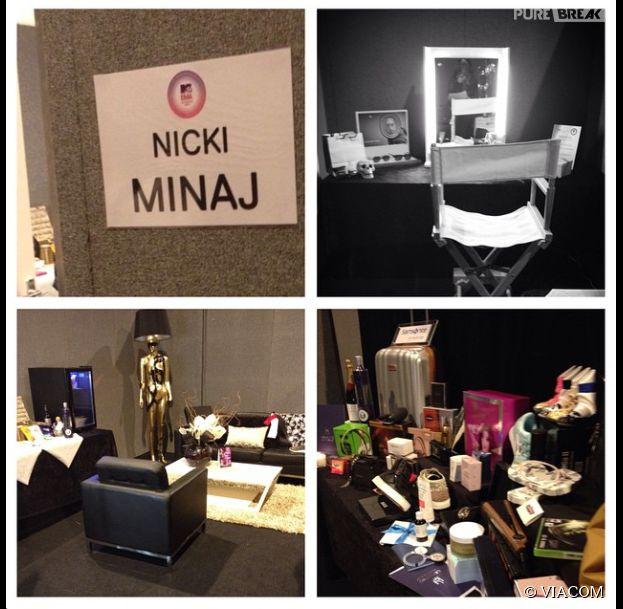 MTV EMA 2014 : les photos de la loge de Nicki Minaj