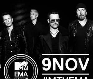 U2, en live aux MTV EMA 2014 à Glasgow, le 9 novembre 2014