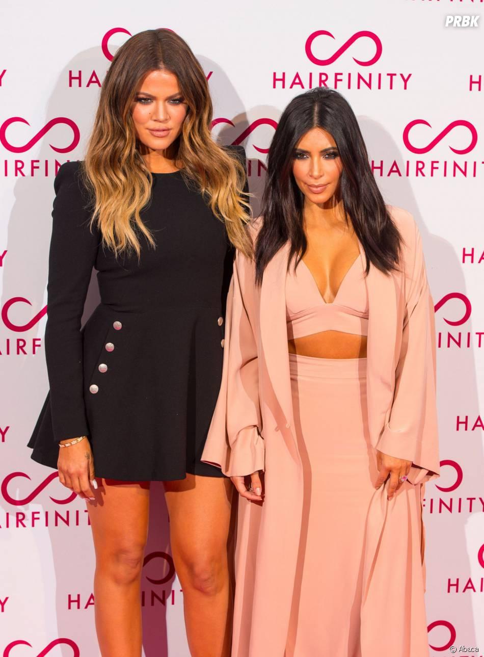 Khloe Kardashian et Kim Kardashian : duo sexy à la soirée Hairfinity, le 8 novembre 2014 à Londres
