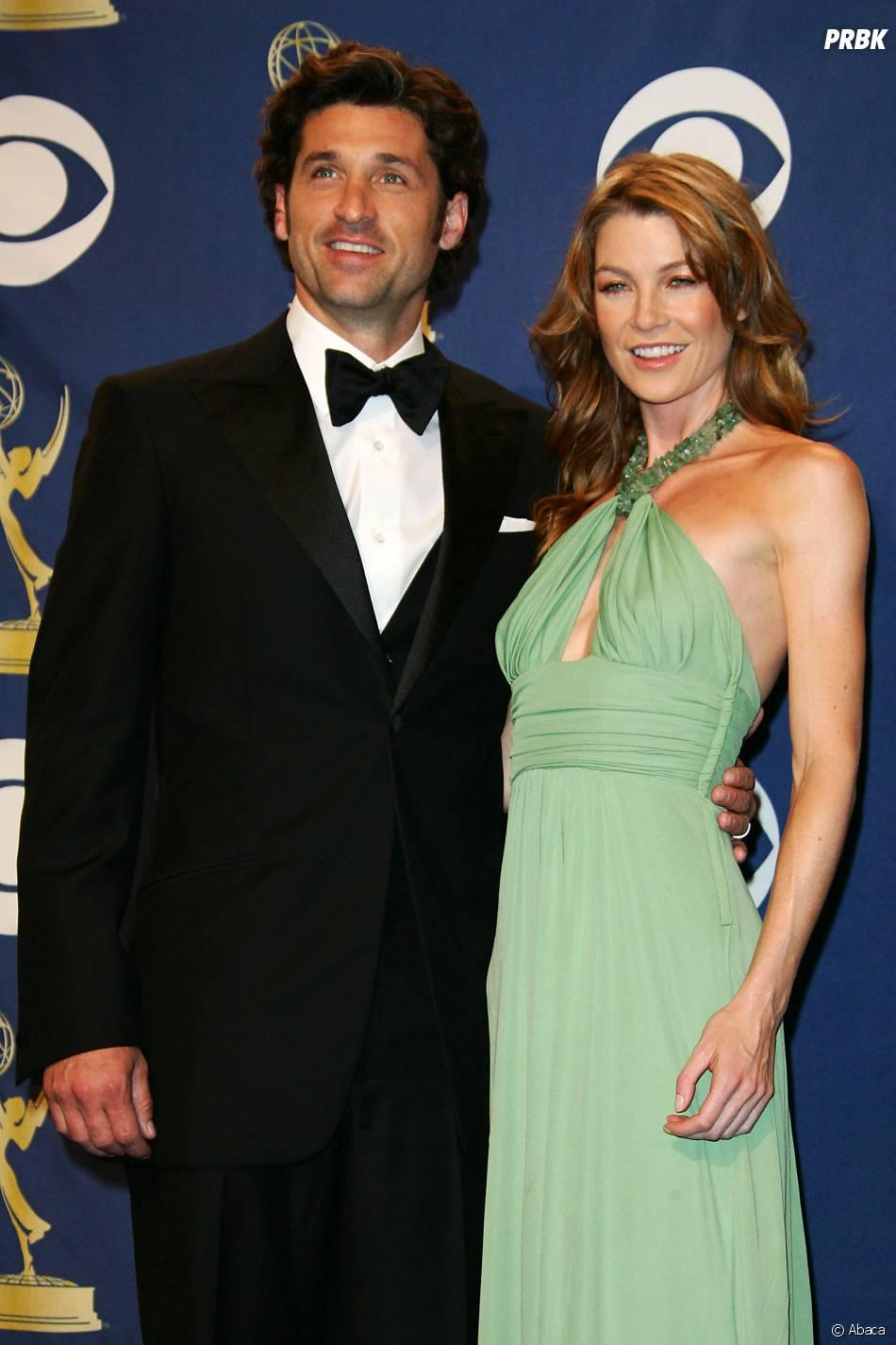 Ellen Pompeo et Patrick Dempsey en 2005...  Ellen