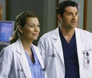 Ellen Pompeo et Patrick Dempsey dans Grey's Anatomy
