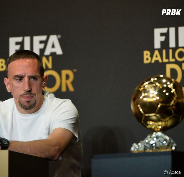 Franck Ribéry pendant la conférence de presse du Ballon d'or 2013, le 13 janvier 2014 à Zurich