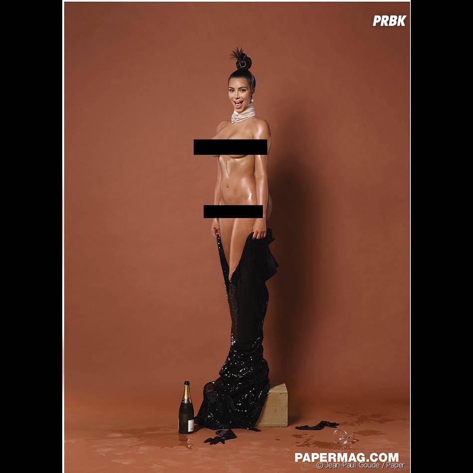 Kim Kardashian complètement nue pour Paper