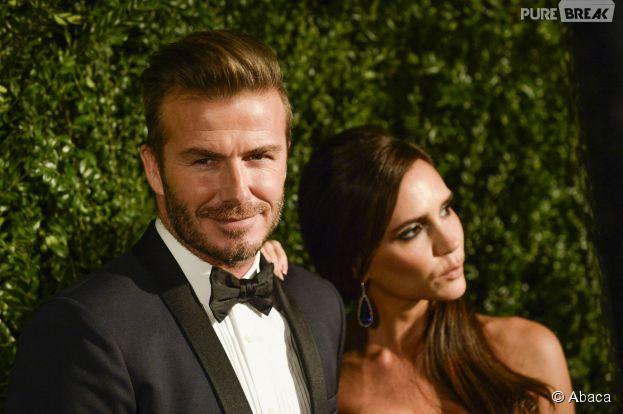 David Beckham et Victoria Beckham sur le tapis rouge des Evening Standard Theatre Awards à Londres, le 30 novembre 2014