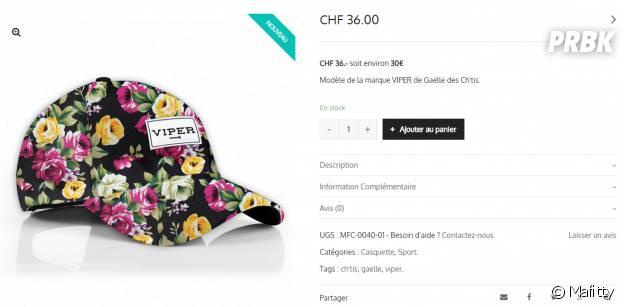 Gaëlle (Les Ch'tis) : sa casquette Viper