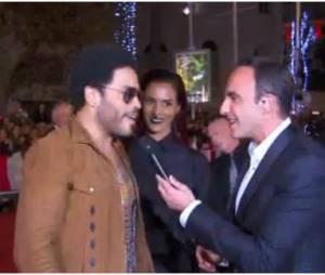 Shy'm et Lenny Kravitz sur le tapis rouge des NMA 2014 avec Nikos Aliagas