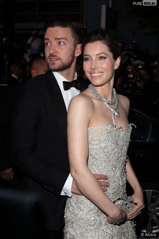 Justin Timberlake et Jessica Biel : couple glamour sur les marches du Festival de Cannes, le 19 mai 2013