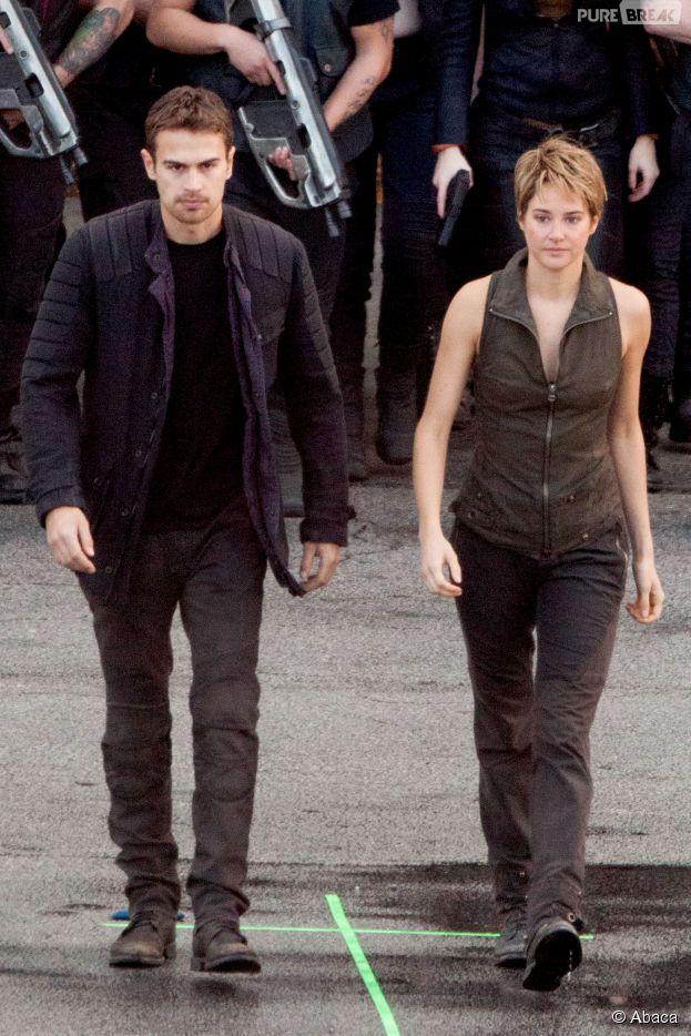 Divergente 2 : Theo James et Shailene Woodley en tournage le 19 décembre 2014