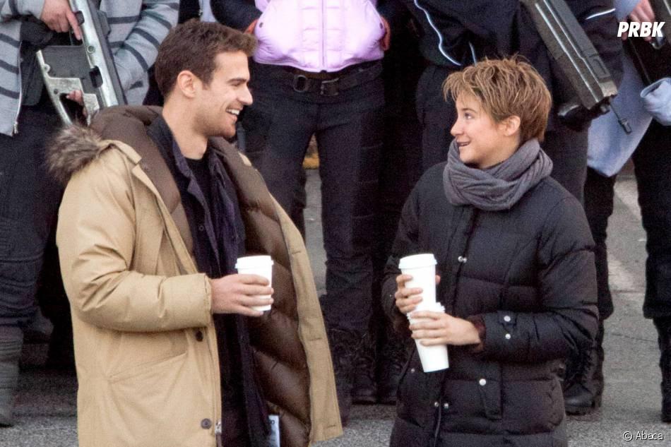 Divergente 2 : Theo James et Shailene Woodley dans les coulisses du tournage le 19 décembre 2014