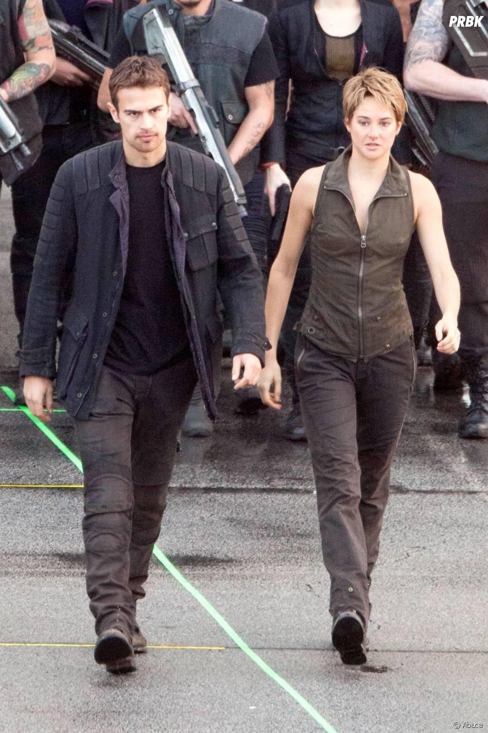 Divergente 2 : Shailene Woodley et Theo James en tournage le 19 décembre 2014