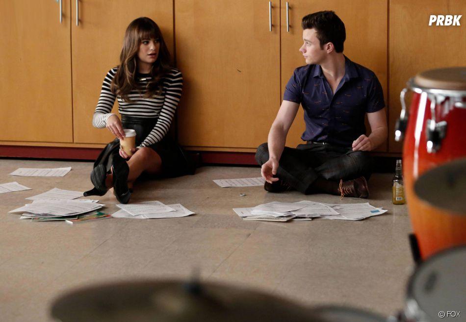 Glee saison 6, épisode 3 : Lea Michele et Chris Colfer sur une photo