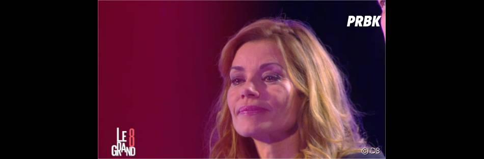 Ingrid Chauvin émue aux larmes dans Le Grand 8 le 15 janvier 2015