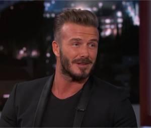 David Beckham se confie sur ses enfants en interview pour Jimmy Kimmel le 28 janvier 2015