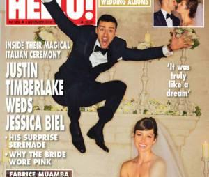 Justin Timberlake et Jessica Biel : la photo officielle de leur mariage en couv du magazine Hello!