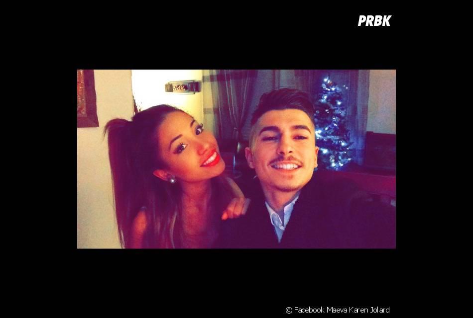 Maeva Karen et son petit-ami en photo sur Facebook, le 1er janvier 2015