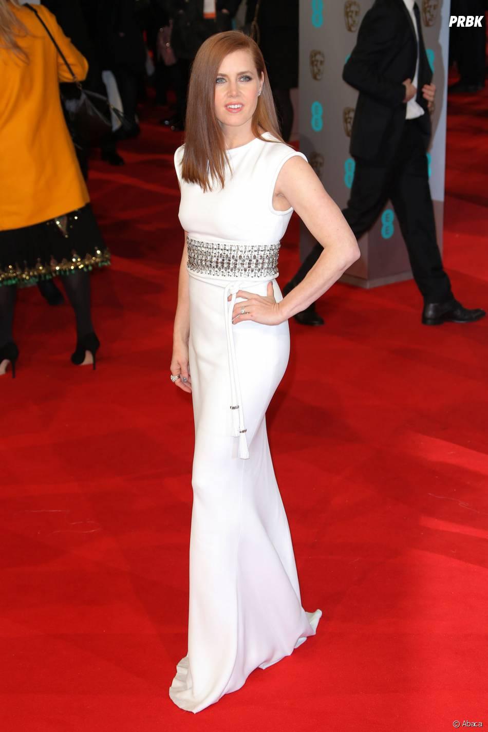 Amy Adams sur le tapis-rouge des BAFTA le 8 février 2015 à Londres