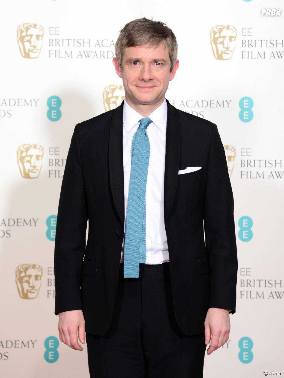 Martin Freeman sur le tapis-rouge des BAFTA le 8 février 2015 à Londres