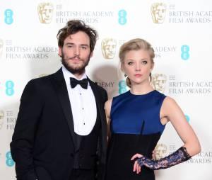 Sam Claflin et Natalie Dormer sur le tapis-rouge des BAFTA le 8 février 2015 à Londres