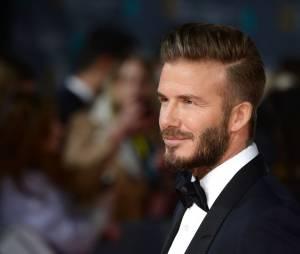 David Beckham sur le tapis-rouge des BAFTA le 8 février 2015 à Londres