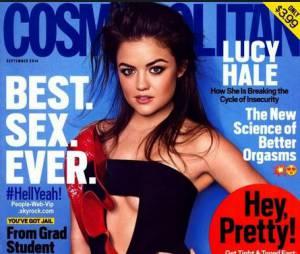 Lucy Hale sexy en Une de Cosmo