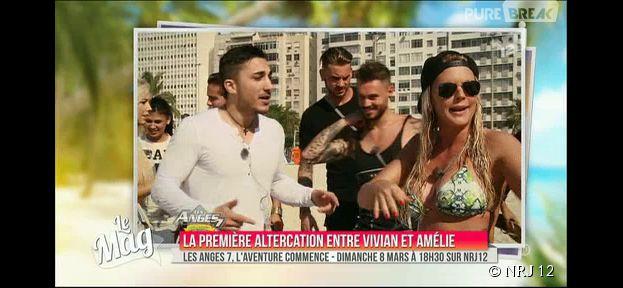 Les Anges 7 : les images du premier clash de l'émission entre Vivian et Amélie Neten