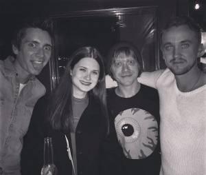 Harry Potter : Tom Felton, Bonnie Wright, Rupert Grint et James Phelps se retrouvent à Los Angeles le 6 mars 2015