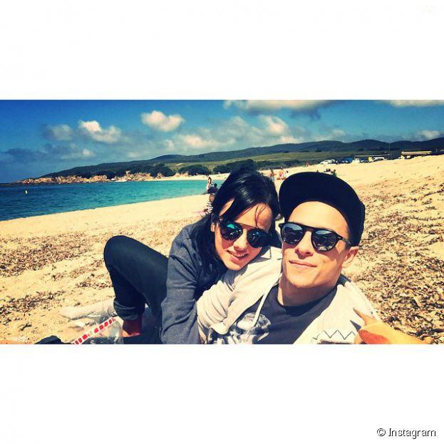 Alizée et Grégoire Lyonnet amoureux à la plage sur Instagram