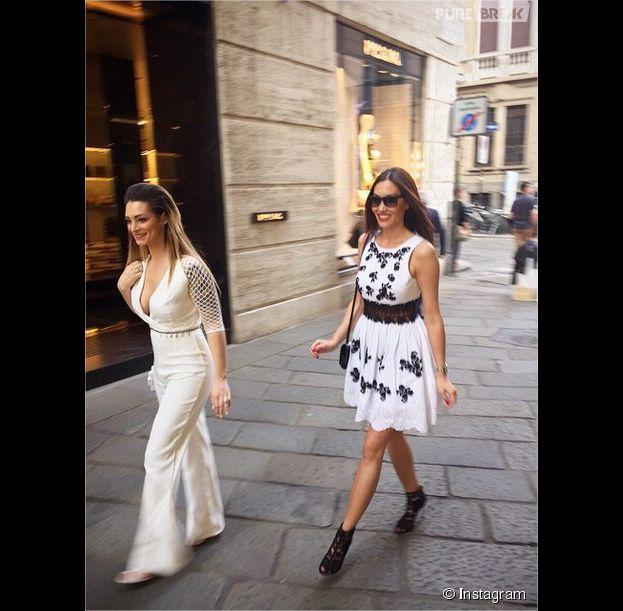 Emilie Nef Naf et Sidonie Biémont : deux wags sexy à Milan, avril 2015