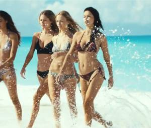Natasha Poly, Doutzen Kroes, Adriana Lima et Joan Smalls sexy en bikini dans la nouvelle campagne H&M, été 2015