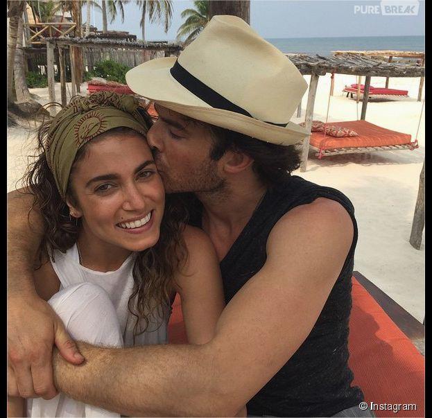 Ian Somerhalder et Nikki Reed lors de leur lune de miel à Tulum au Mexique en mai 2015