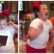 Atteinte de trisomie, une petite fille de 10 ans apprend avec bonheur qu'elle sera pom-pom girl