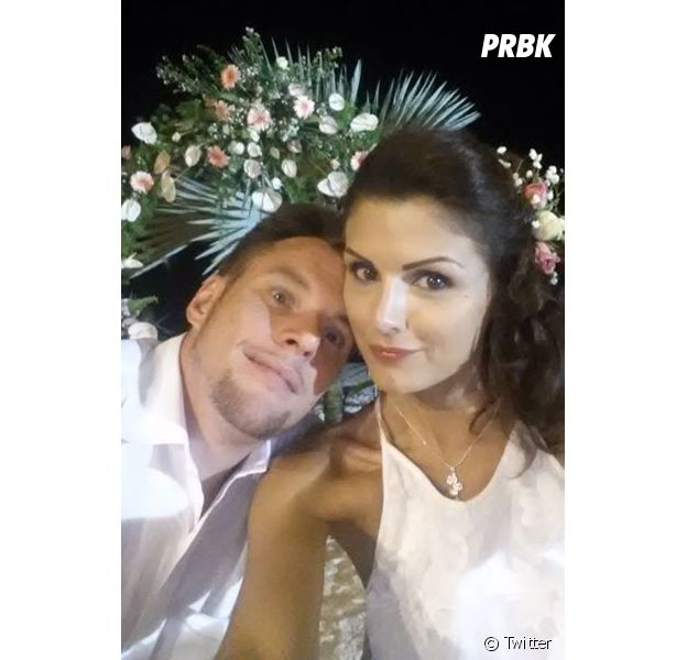 Norbert Tarayre et Amandine : mariés depuis 9 ans, ils ont renouvelé leurs voeux à l'île Maurice en avril 2015