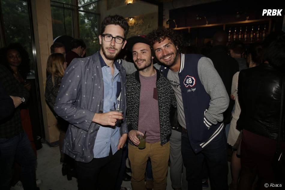 Kemar, Jérôme Niel et Maxime Musqua à la soirée d'ouverture du bar Signature by Grants à Paris, le 26 mai 2015