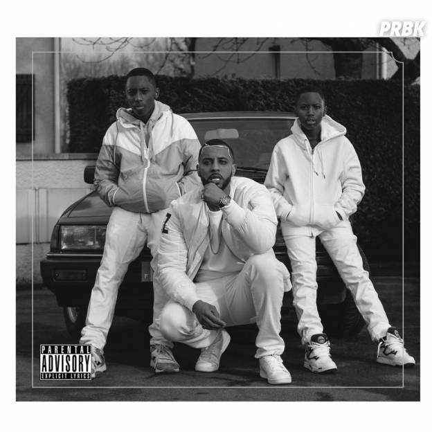 """Disiz et ses fils sur la pochette de l'album """"Rap Machine"""", 1er juin 2015"""