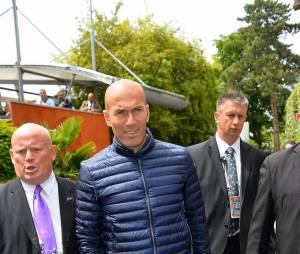 Zinedine Zidane à Roland Garros, le 29 mai 2015